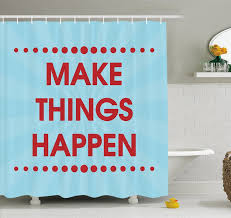 Shower Curtain Chemistry Ambesonne Motivational Phrase Inspirational Think Positive Quote