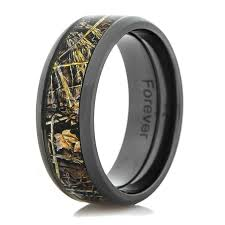 camo mens wedding bands black zirconium realtree max 4 camo ring titanium buzz