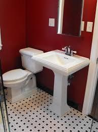 bathroom red color ideas tamingthesat