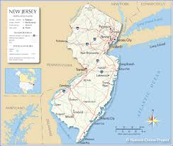 Ocean City Md Map Reference Map Of New Jersey Usa Nations Online Project