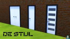 Modern Doors De Stijl Simple Door 7 Snw Simsnetwork Com