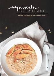 cuisine ayurveda ayurveda breakfast spiced porridge with stewed fruits juyogi