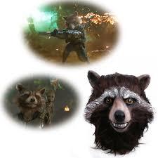 Raccoon Halloween Costumes 2017 Guardians Galaxy Vol 2 Mask Cosplay Rocket Raccoon