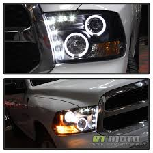 2011 dodge ram headlight replacement black fits 09 17 dodge ram led halo projector headlights smd
