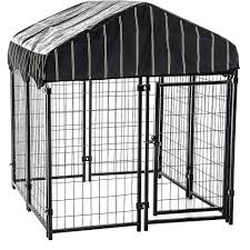 Outdoor Kennel Ideas by Lucky Dog Welded Wire Uptown Dog Kennel 6 U0027x 4 U0027 X4 U0027 Walmart Com