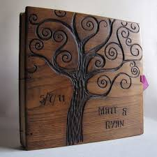 engraved wedding album 29 best books with wooden memory images on book covers