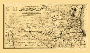 Iowa Illinois Map Old Railroad Map Galena And Chicago Union Railroad 1862
