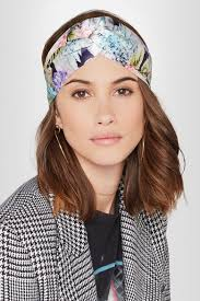 silk headband gucci twisted floral print silk satin headband net a porter