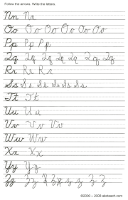 easy cursive writing worksheet printable handwriting worksheets