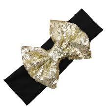 gold headband black and gold sequin bow headband shop cassidys closet