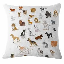 Dog Home Decor by Cartoon Little Bull Dog Home Decor Pillow Case Sofa Waist Cushion