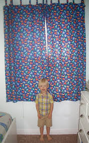 Rocket Ship Curtains by Apple Avenue Quilts See You In September Blog Hop