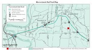 map of northton ma rail trails in massachusetts masstrails com