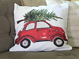 volkswagen christmas red car christmas decor following friends