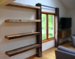 shelves white distressed wood wall shelf modern shelf diy faux
