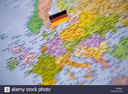 Germany On World Map by C8 Alamy Com Comp Aphbht Flag Pin Placed On World