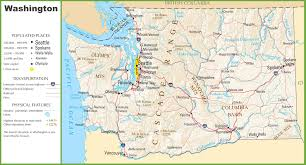 County Map Of Washington Map Of State Washington With Outline The State Cities In Of