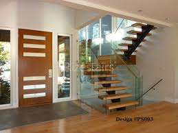 Wood Glass Stairs Design Modern Glass Stairs Glass Balustrade Modern Stairs Custom Design