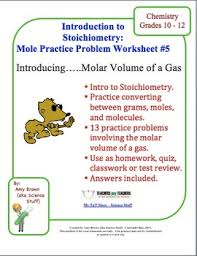 mole practice worksheet 5 molar volume of a gas chemical
