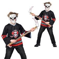jason costumes bloody fancy dress costume childs jason hockey