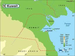 kuwait on a map kuwait map pic my