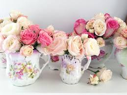Shabby Chic Flower Arrangement by Such Pretty Things Flower Arranging