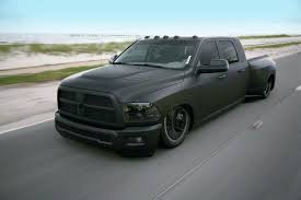 blacked out dodge truck 2010 ram 3500 mega cab dualie black out photo image gallery
