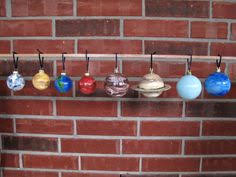 painted solar system scale model 2 sizes 8 glass