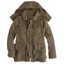 Leather Barn Coat Mens Fatigue Jacket Garrison Hoodie