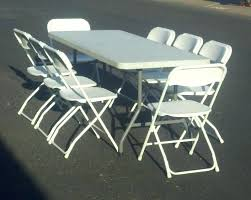 party table and chairs for sale used tables and chairs in chicago 6 party table and 8 white