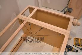 Bathroom Vanity Furniture by Furniture Style Bathroom Vanity Made From Stock Cabinets U2013 Part 1