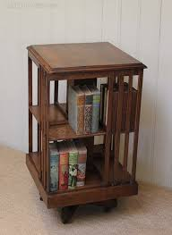 Danner Revolving Bookcase Edwardian Two Tier Revolving Bookcase Raised On Castors Antiques