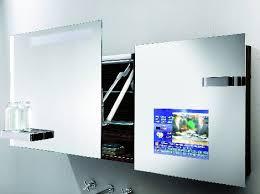 futuristic bathroom mirror tv cabinet in hoessch singlebath suite