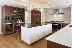 contemporary kitchen cabinets with miele stainless steel wall