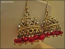 fancy jhumka earrings antique gold and jhumka earrings