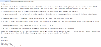 Subject For Sending Resume On Email