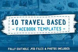 travel based psd facebook templates facebook templates