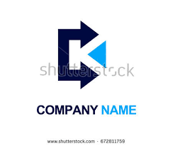 arrow letter k logo design template stock vector 672811759