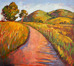 fields of gold contemporary impressionism landscape oil