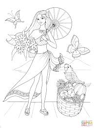 summer style coloring page free printable coloring pages