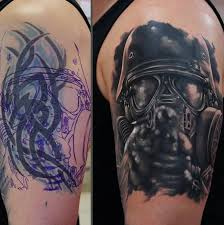 sleeve cover up with outstanding soldier and black tribal