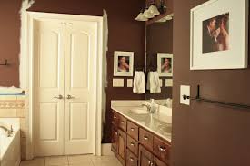 the bozeman bungalow painting the master bathroom brown painted
