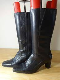 womens boots uk clarks womens boots size 5 5 clarks black leather mid calf 38cm top