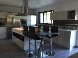 table ilot cuisine haute étourdissant ilot central extensible et table de cuisine haute