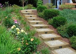 Backyard Steps Ideas Classic And Inexpensive 4 X 4 Railroad Ties Hard Gravel And
