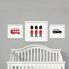 themed posters london theme canvas painting nursery wall subway posters