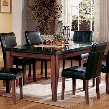 Chair Granite Dining Table Set Flooding The Room With Elegance And - Granite dining room table