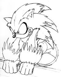 coloring pages sonic free sonic the werehog coloring pages in model free coloring kids