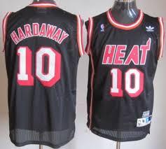 miami heat 10 tim hardaway black swingman throwback jersey on