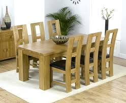 solid oak dining table and 6 chairs oak dining room set toberane me